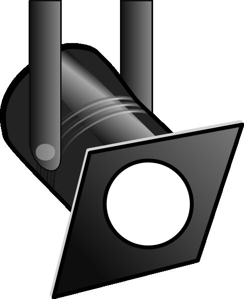 Spotlight Black And White Clipart.