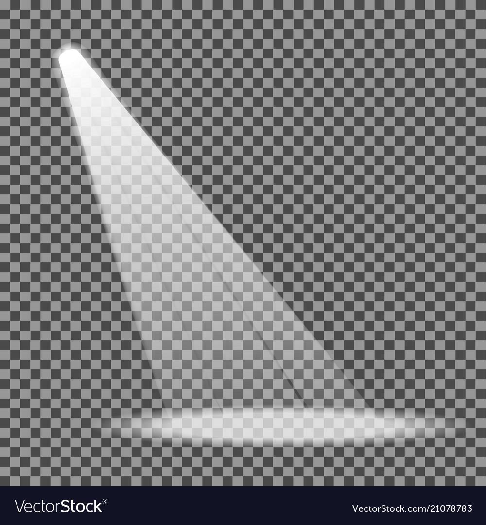 Spotlight on transparent background eps10.