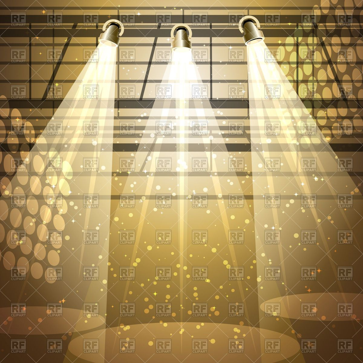 Shining theatrical stage with spotlight Stock Vector Image.