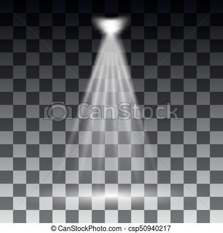 Spotlights scene light effects. Stage light spotlight vector. Vector  illustration.