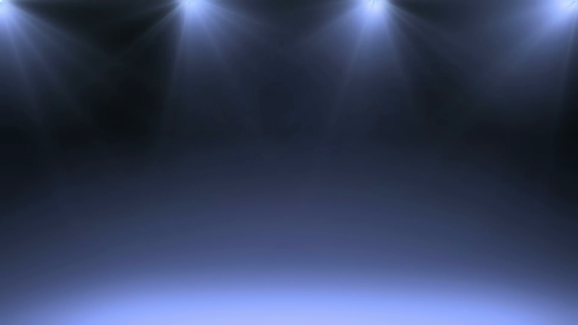 Animated Dark Blue Stage with Spotlights Background. Motion Background.