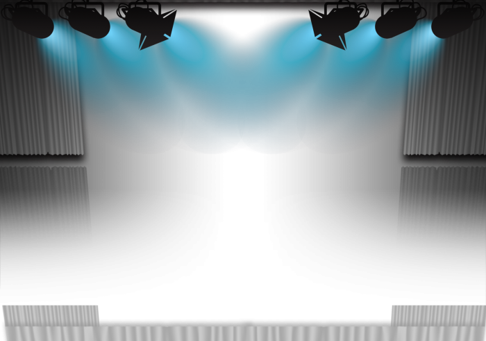 HD Stage Lights Background Png.