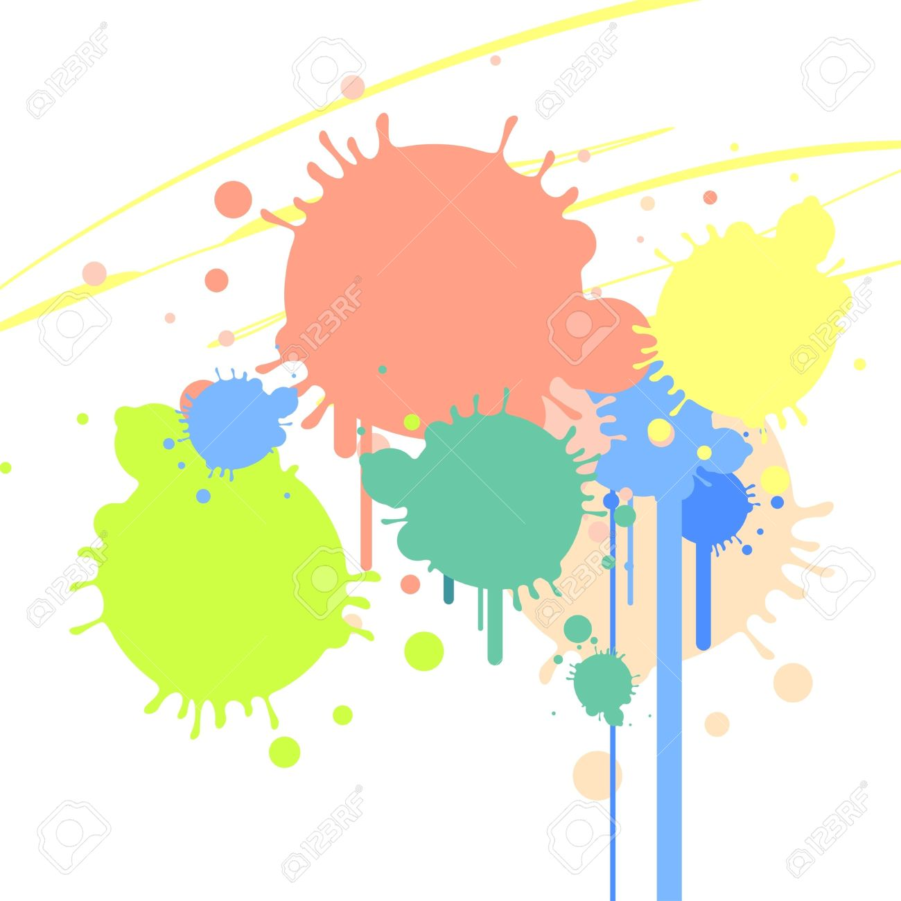 Background With Color Spots Royalty Free Cliparts, Vectors, And.