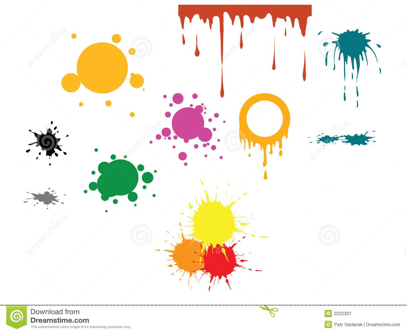 Colors Spots Clipart.