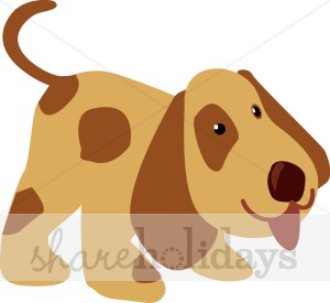 Spotted Cartoon Puppy Clipart.