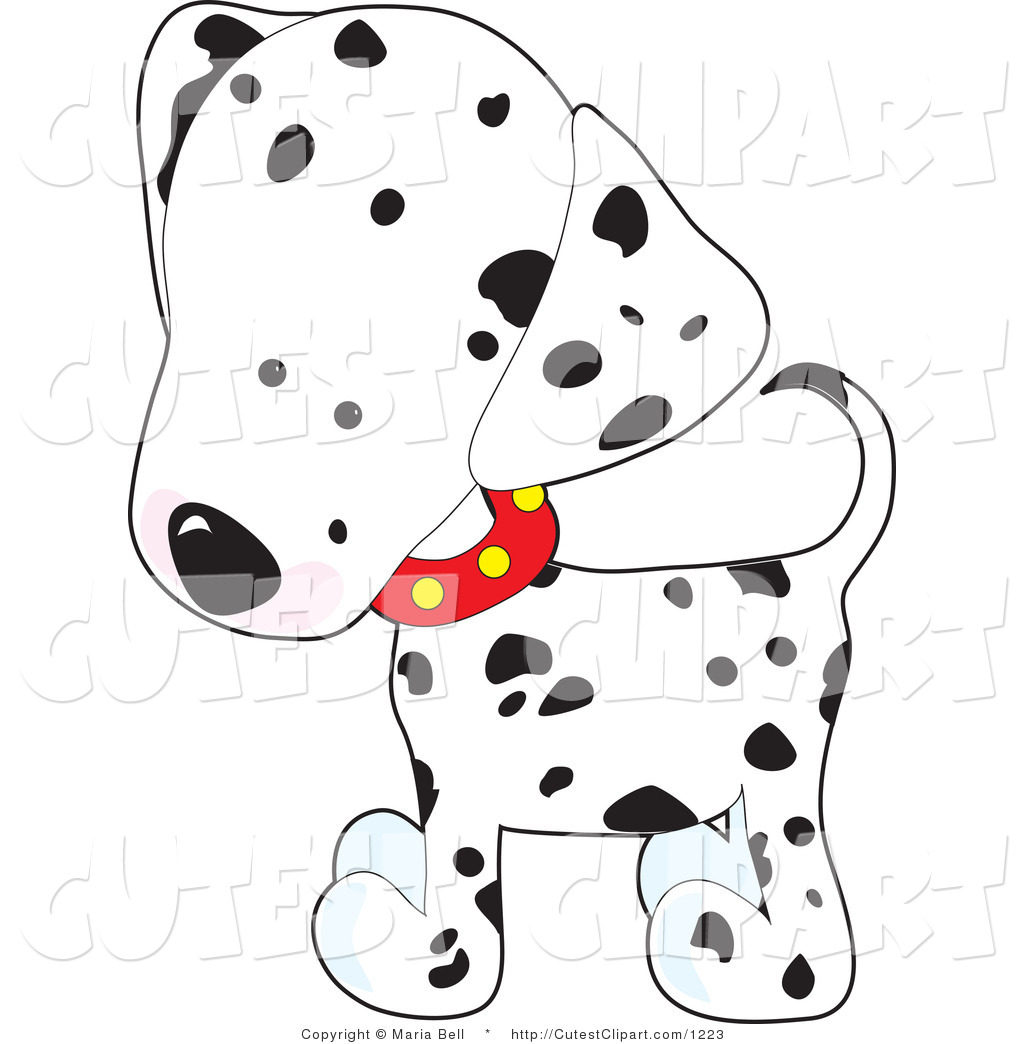 Free spotted dog clipart.