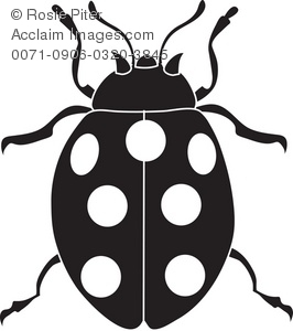 Clip Art Illustration of a Spotted Beetle.