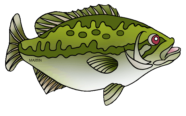 Free United States Clip Art by Phillip Martin, State Fish of.