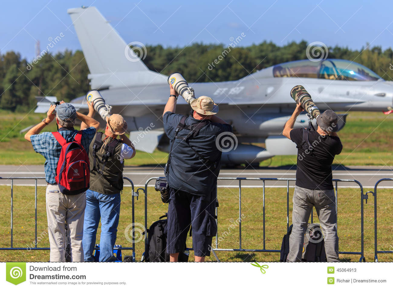 Airplane Spotters Editorial Stock Photo.