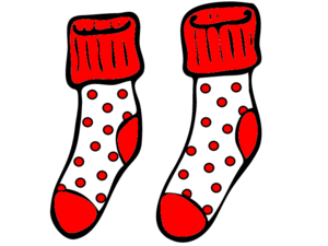 Red And White Spotty Socks.