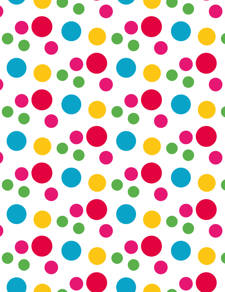Colourful spotty clipart.