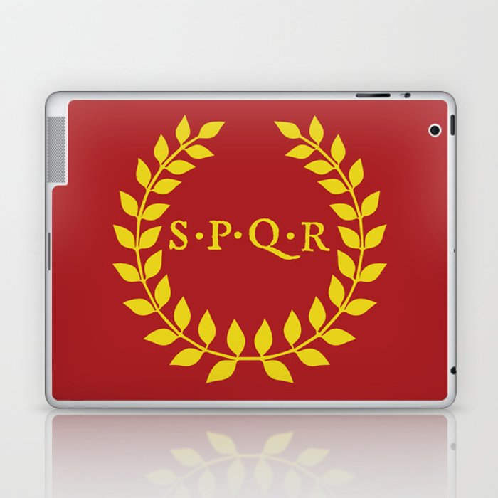 SPQR logo Laptop & iPad Skin by iskanderox.