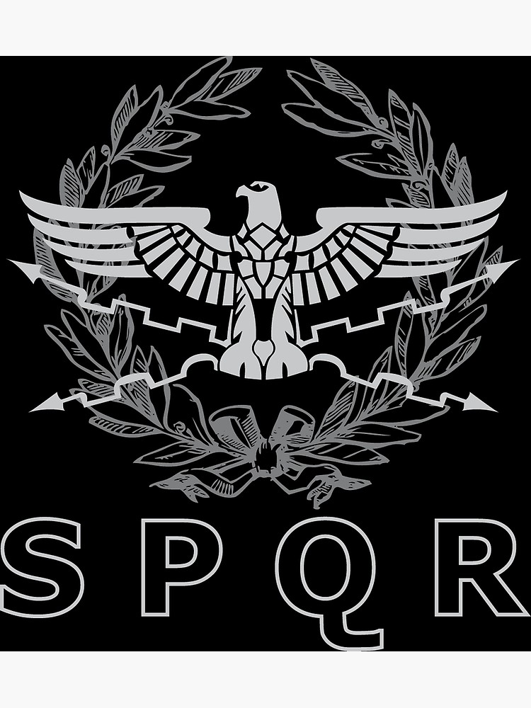 SPQR The Roman Empire Emblem.