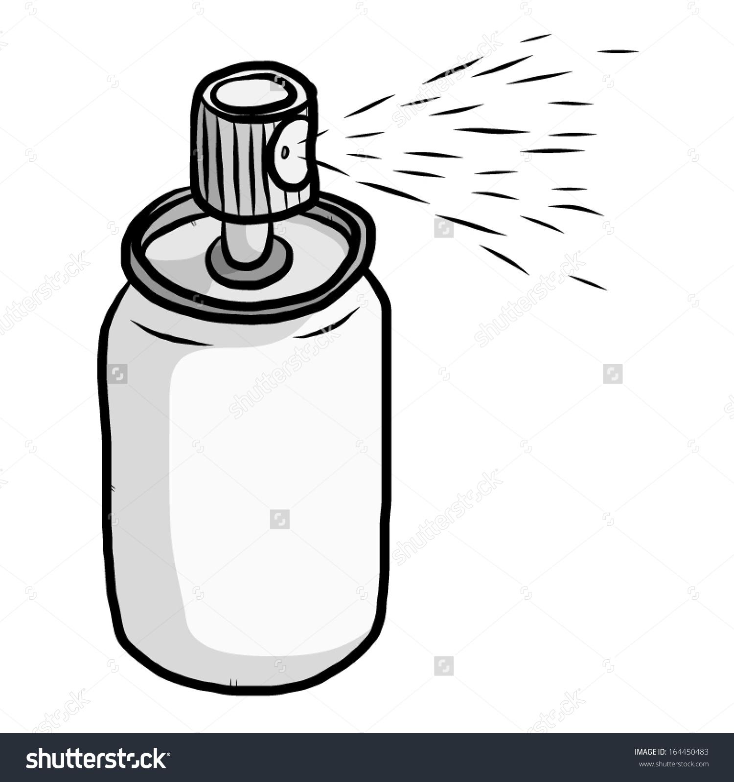 Water spray bottle clipart.