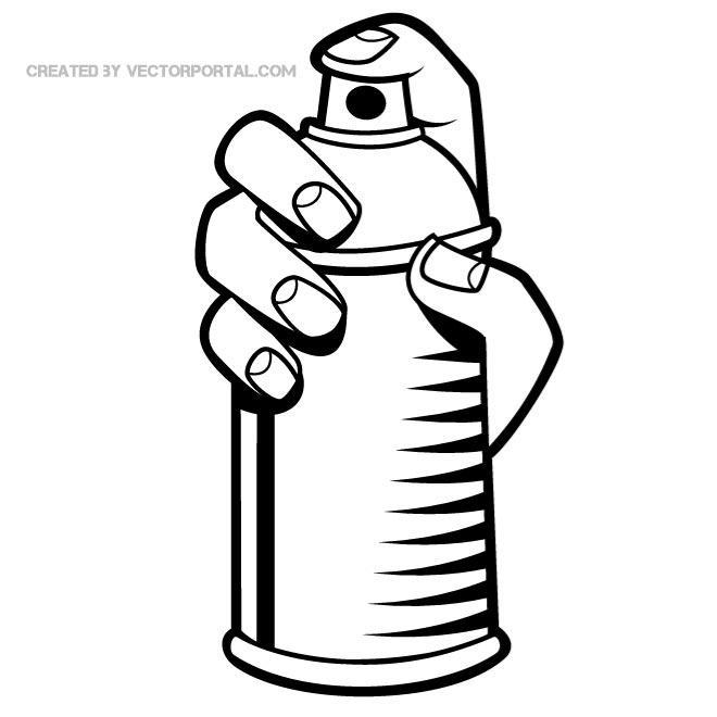 Spray Paint Clip Art Free Vector.
