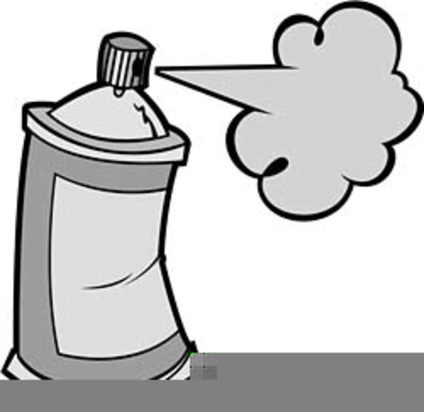 Clipart Spray Paint Cans.
