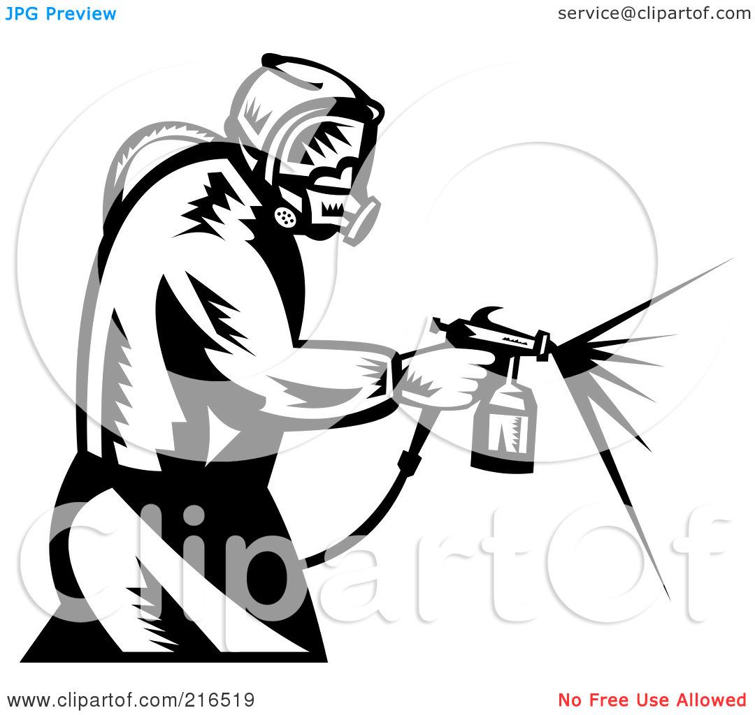 Spray Gun Clip Art.