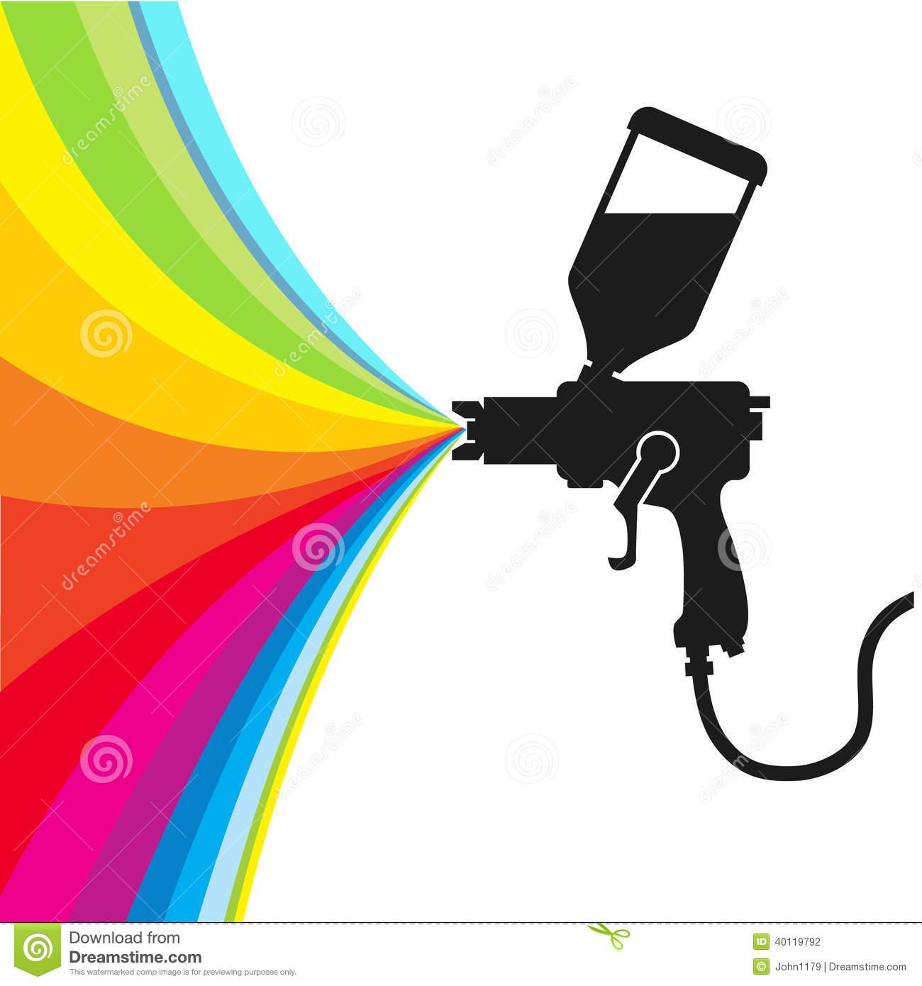 Paint spray gun clipart.