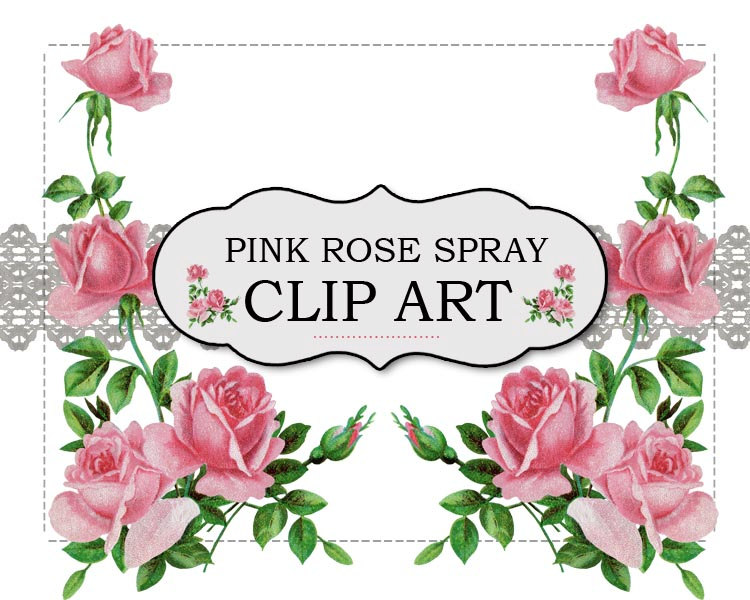 Flower spray clip art.