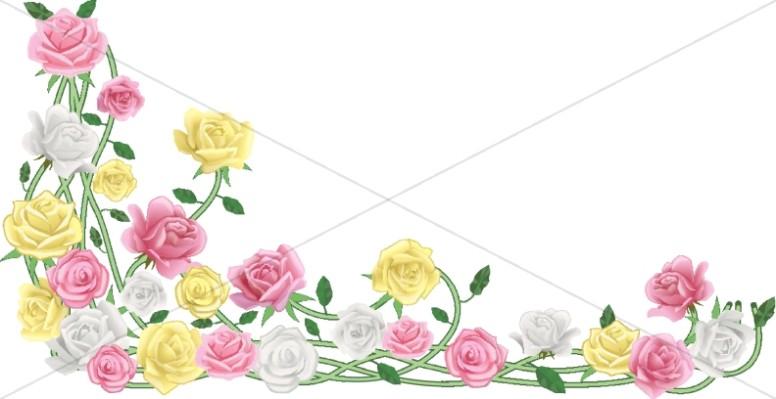 Flower Borders, Flower Border Clipart.