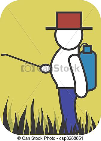 Pesticide Spraying Clipart.