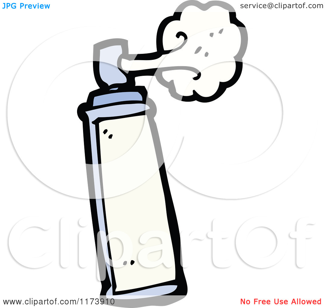 Spraying Clipart.