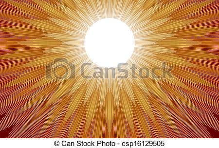 Vector Clipart of Sun Rays.
