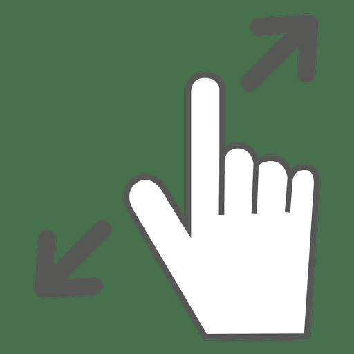 Spread gesture icon.