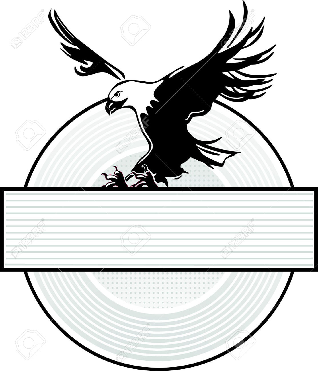 Spread Wing Eagle Insignia Royalty Free Cliparts, Vectors, And.