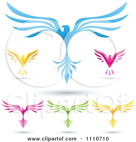 Clipart of a Pair of Blue Wings 2.