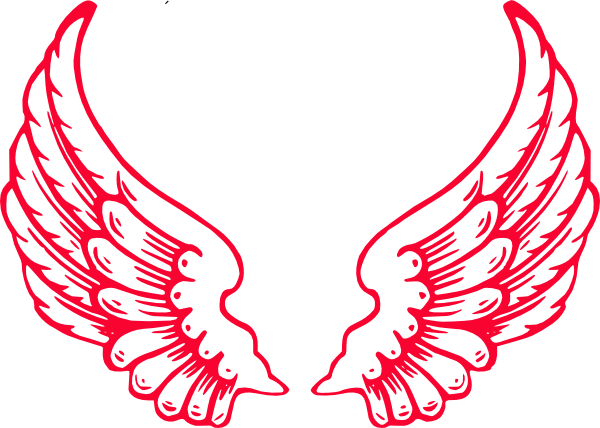Spread Angel Wings Clip Art at Clker.com.