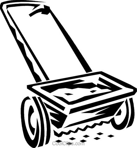 seed spreader Royalty Free Vector Clip Art illustration.