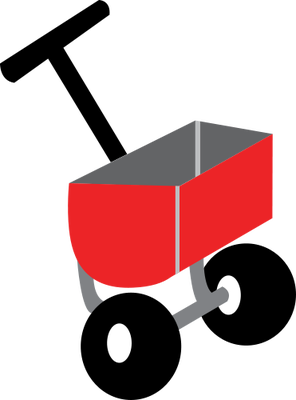 Lawn Fertilizer Spreader Clip Art.