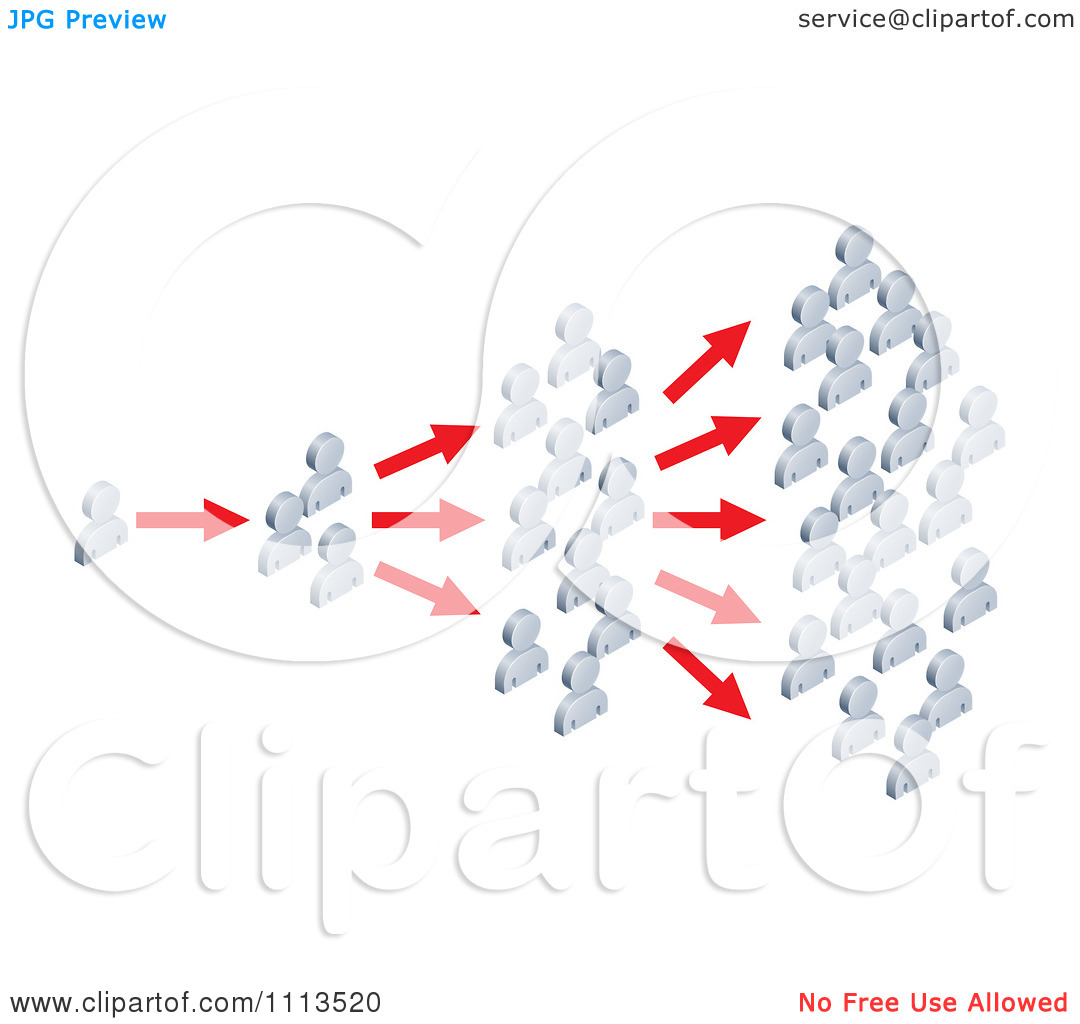 Clipart 3d Silver People Spreading News.