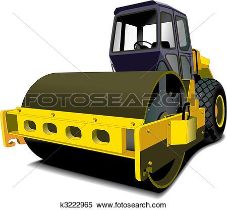 Clipart of road roller k3222965.