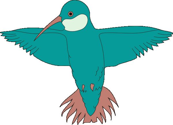 Hummingbird With Wings Spread Clip Art at Clker.com.