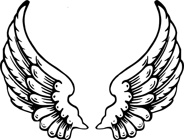 Spread wings clip art.