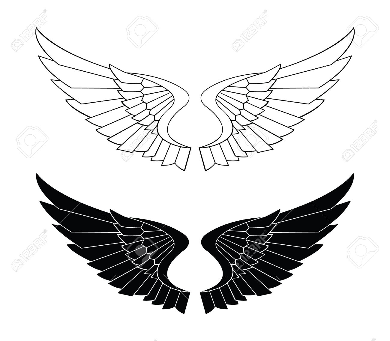 Related Keywords & Suggestions for Eagle Wings Spread Clipart.