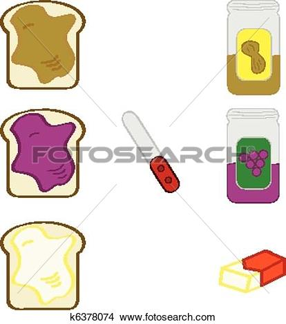 Clipart of Bread spreads k6378074.