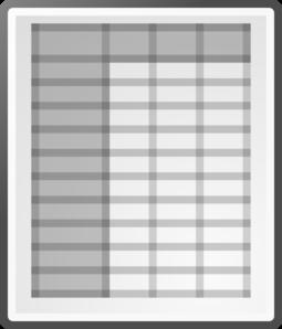 Spreadsheet Clipart.