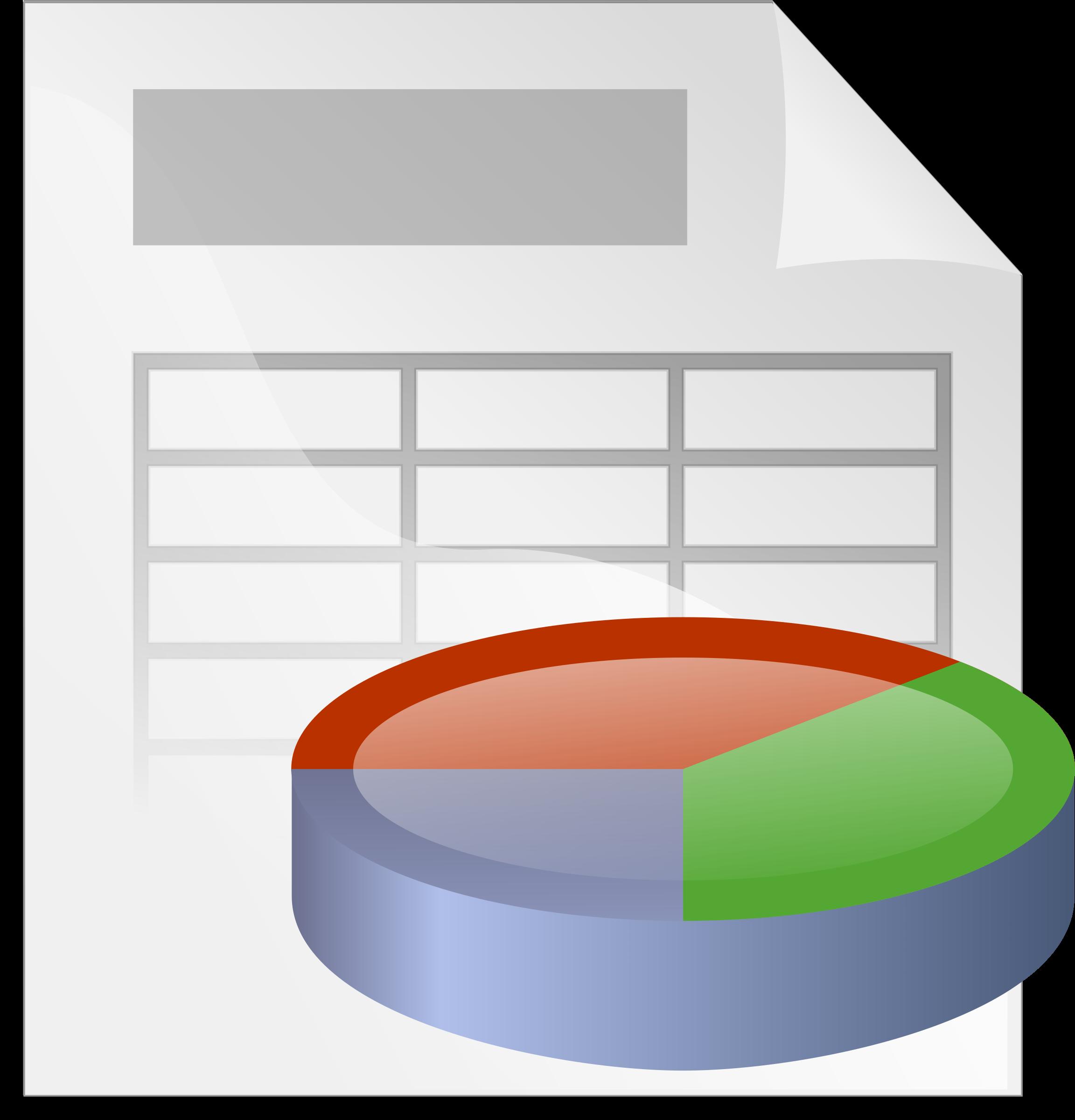 Sample Spreadsheet Clip Art.