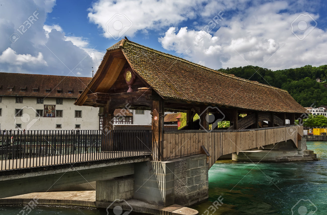 The Spreuer Bridge Is One Of Two Extant Covered Wooden Footbridges.