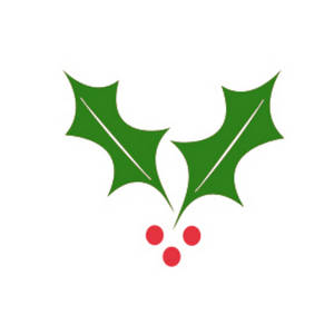 Clipart Picture of a Sprig of Holly.