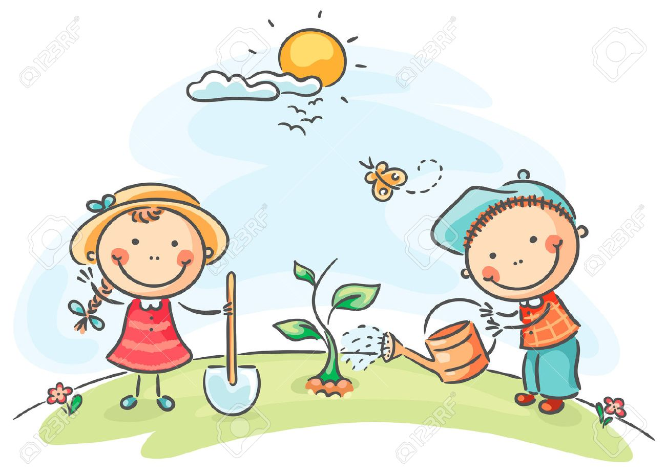 Spring Activities Clipart.
