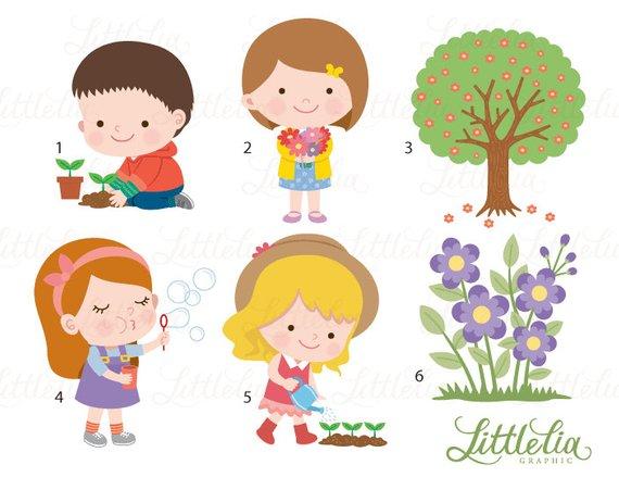 Spring outdoor kids.