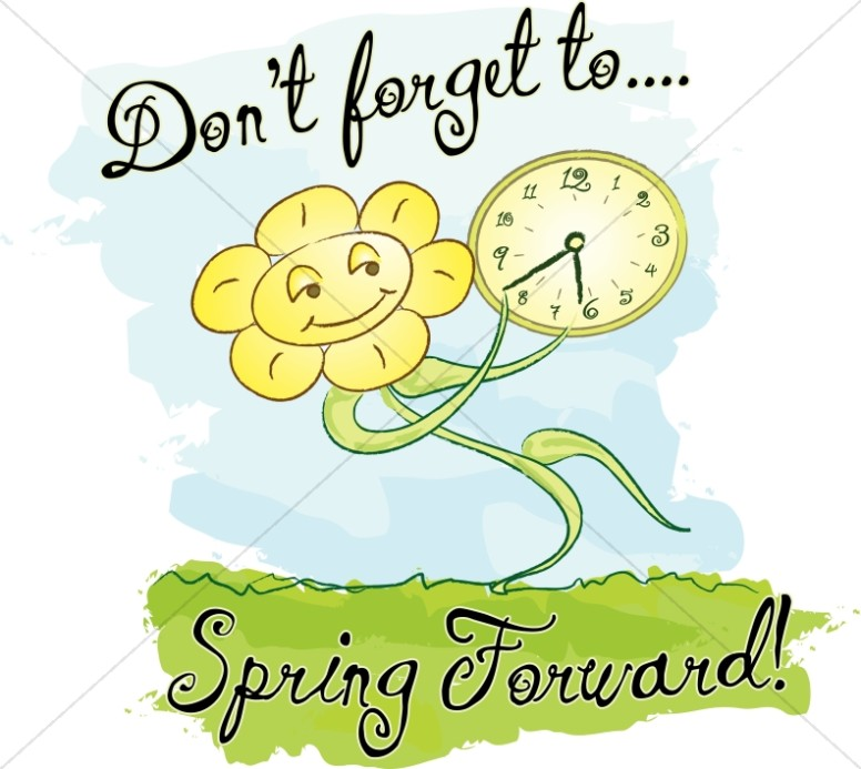 Spring Forward with Words and Happy Flower.