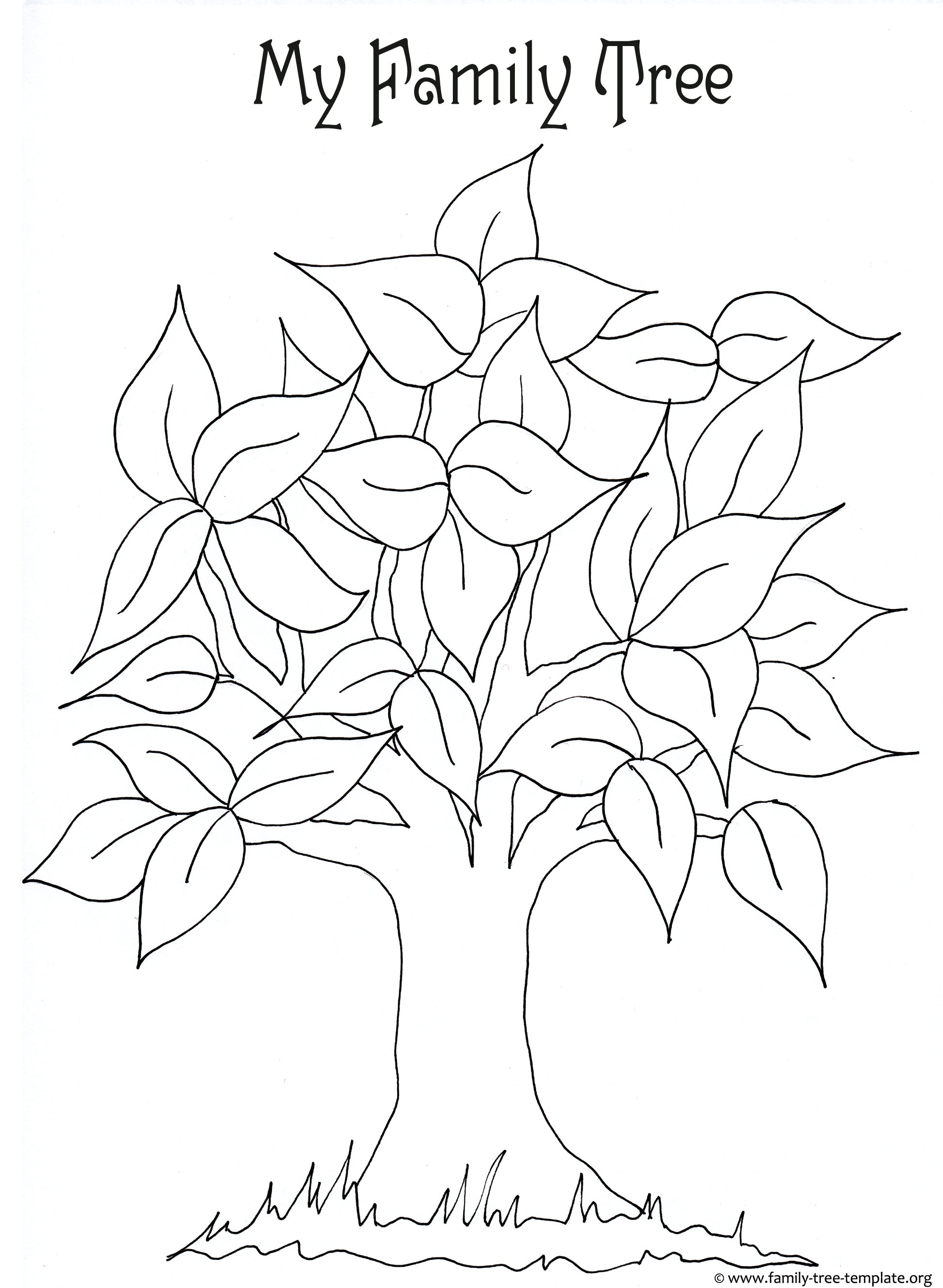 free printable clipart of family tree 20 free Cliparts