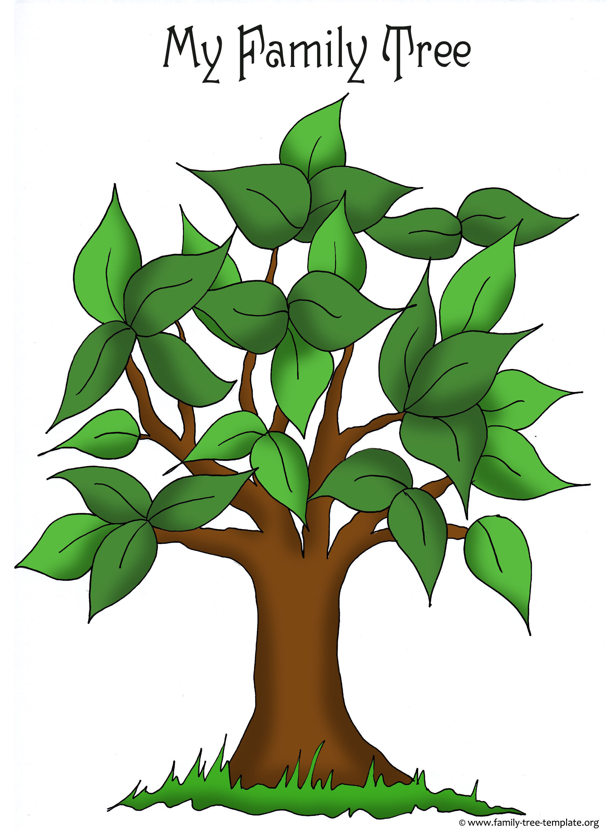 Family Tree Templates & Genealogy Clipart for Your Ancestry Map.