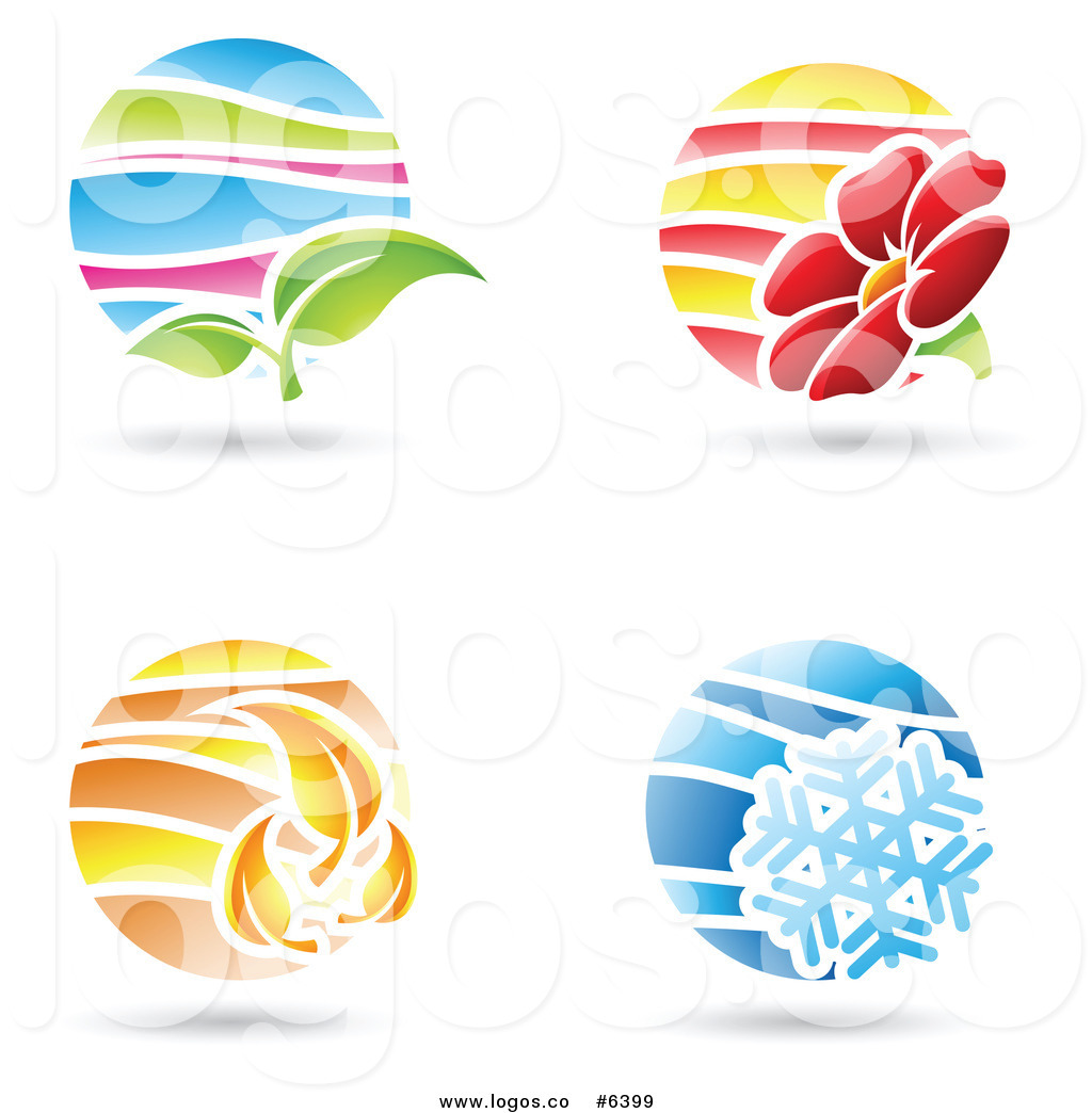Royalty Free Clip Art Vector Logos of Circular Spring Summer.