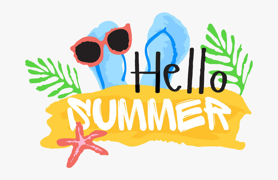 Hello Summer Clip Art , Transparent Cartoon, Free Cliparts.